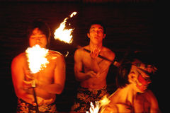 Fire breathers Stock Photos