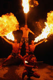 Fire breathers Stock Image
