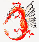 Fire-breathing dragon Royalty Free Stock Photography