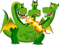 Fire-breathing dragon Stock Images