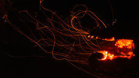 Fire-breathing jaws of wildfire Royalty Free Stock Images