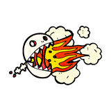 Fire breathing skull cartoon Royalty Free Stock Image