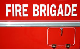 Fire Brigade. Side view of vintage fire brigade truck Stock Images