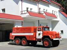 Fire brigade car, Lithuania Stock Image