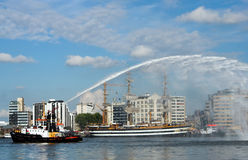 Fire brigade demo Royalty Free Stock Images