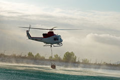 Fire brigade helicopter Stock Image