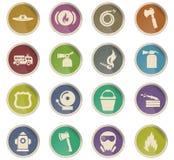Fire brigade icon set. Fire brigade vector icons for user interface design vector illustration