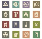 Fire brigade icon set. Fire brigade vector icons for web and user interface design vector illustration