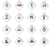 Fire brigade icon set. Fire brigade flat web icons for user interface design Stock Images