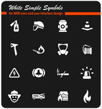 Fire brigade icon set. Fire brigade  icons for user interface design Stock Image