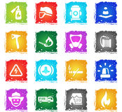 Fire brigade icon set Stock Photography