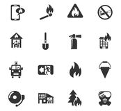 Fire brigade icon set. Fire brigade web icons for user interface design Royalty Free Stock Photo