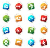 Fire brigade icons set. Fire brigade color icon for web sites and user interfaces Stock Photography