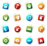Fire brigade icons set Royalty Free Stock Photo