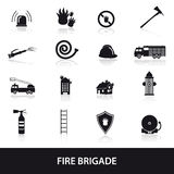 Fire brigade icons set eps10. 16 fire brigade icons set eps10 stock illustration