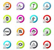 Fire brigade icons set Stock Photo