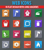 Fire brigade icons set Stock Photography