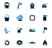 Fire brigade icons set. For web sites and user interface Royalty Free Stock Images