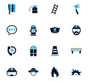Fire brigade icons set. For web sites and user interface Royalty Free Stock Image
