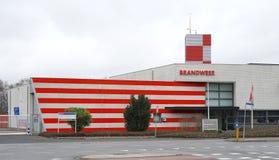 Fire brigade in the Netherlands. Zwijndrecht, the Netherlands. January 2019. Fire department Dutch: Brandweer building and logo royalty free stock photos
