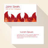 Fire brigade theme business card design eps10. Fire brigade theme business card design Royalty Free Stock Images