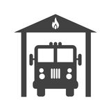 Fire Brigade. Fire, brigade, truck icon vector image. Can also be used for firefighting. Suitable for web apps, mobile apps and print media Royalty Free Stock Photo