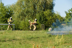 Fire brigade at work. Stock Images