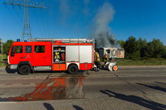 Fire brigade at work. Stock Image