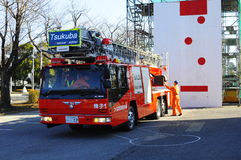 A fire brigade on work during Japan earthquake Royalty Free Stock Photography