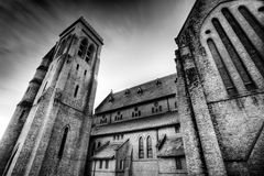 Fire and brimstone. Spooky old church in Australia royalty free stock images