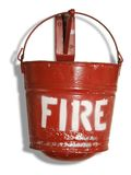 Fire bucket royalty free stock photos