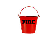 Fire bucket isolated with path Stock Images