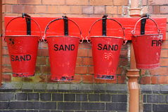 Fire buckets Stock Photography
