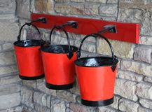 Fire Buckets Royalty Free Stock Images