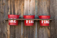 Fire buckets Royalty Free Stock Image