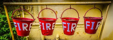 Fire Buckets Stock Images