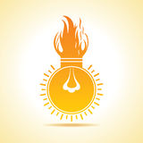 Fire bulb concept Stock Image