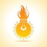 Fire bulb concept. Stock vector Stock Image