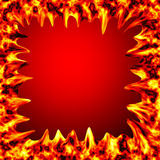 Fire burn on red background Royalty Free Stock Images