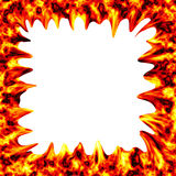 Fire burn on white background Royalty Free Stock Image