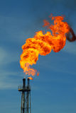Fire burned. Fire was burned at flare line in petrolium society Royalty Free Stock Photos