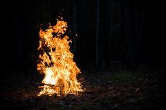 Fire burning Stock Photo