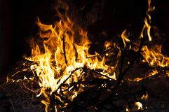 Fire burning Royalty Free Stock Photography