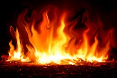 Fire burning. Background Stock Images