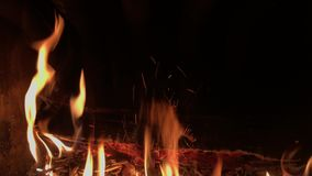 A fire burning background stock video footage