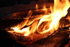 Beautiful fire in nature Royalty Free Stock Photography