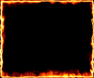 Fire burning frame Stock Image