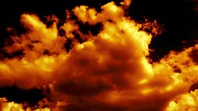 Fire Burning like Hell Armageddon Clouds on Sky