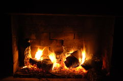 Fire burning low Royalty Free Stock Image