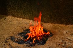 Blazing flame stock images